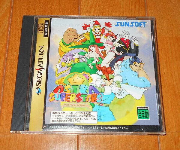 Astra Superstars SS Sega Saturn 1998 Sun Soft Japan Game Vintage Free Shipping