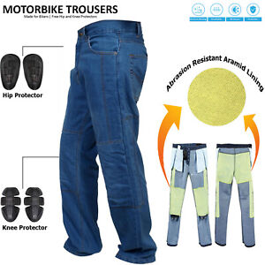 Mens-Blue-Motorcycle-Motorbike-Jeans-Trouser-With-Aramid-Protective-Lining-Pants