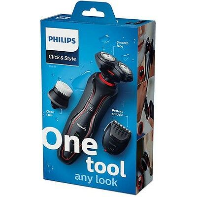 Philips S738 Click &Style Styling & Cleansing Electric Shaver