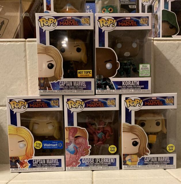 Funko Pop! Captain Marvel Glowing Hands Walmart Exclusive Glow In The Dark LOT!!