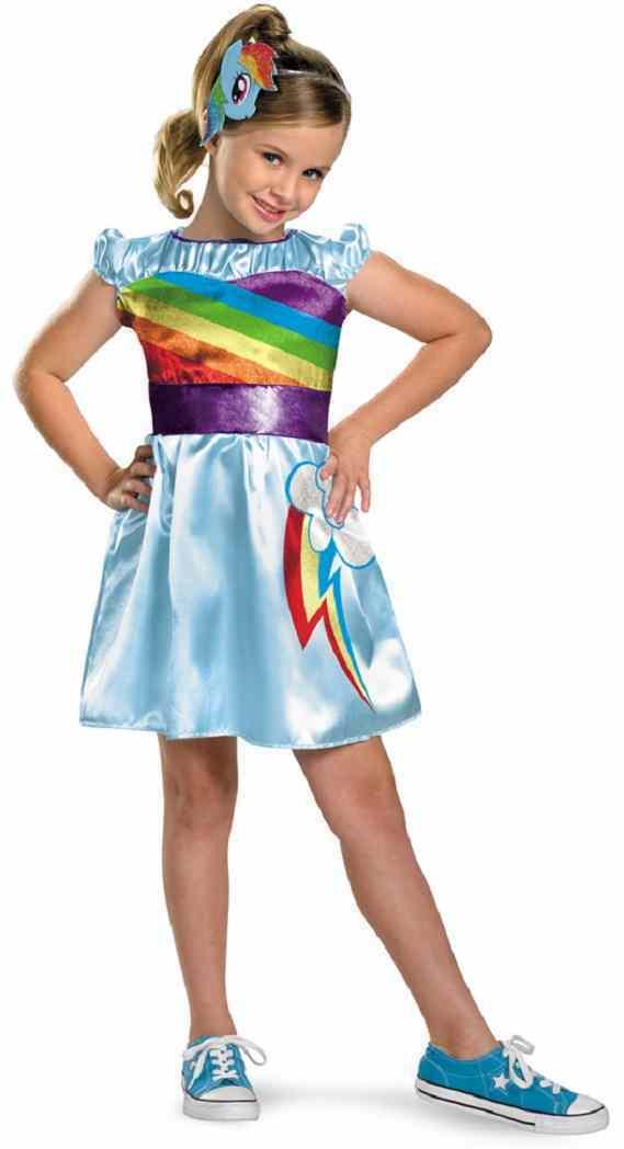 My Little Pony - Rainbow Dash TV Classic My Little Pony Fancy Dress Up Halloween Child Costume