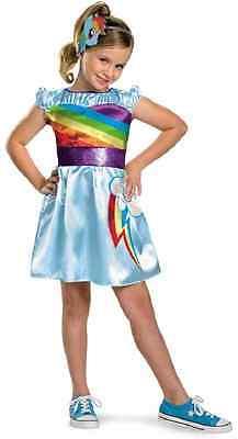 Rainbow Dash TV Classic My Little Pony Fancy Dress Up Halloween Child Costume