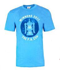 Mens XL Umbro MANCHESTER CITY Winners 2011 T Shirt Retro Top Soccer Blue MAN AM