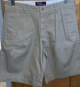 Polo-Ralph-Lauren-Classic-Chino-Uniform-Khaki-Shorts-Boys-Youth-Size-12-Beige