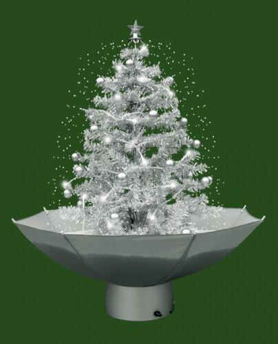 Weihnachtsbaum mit Schneefall Schnee LED Lichterkette 75 cm weiß