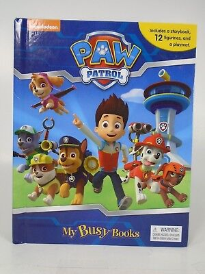 Nickelodeon PAW PATROL MY BUSY BOOKS PawPatrol storybook 12 Figures Playmat