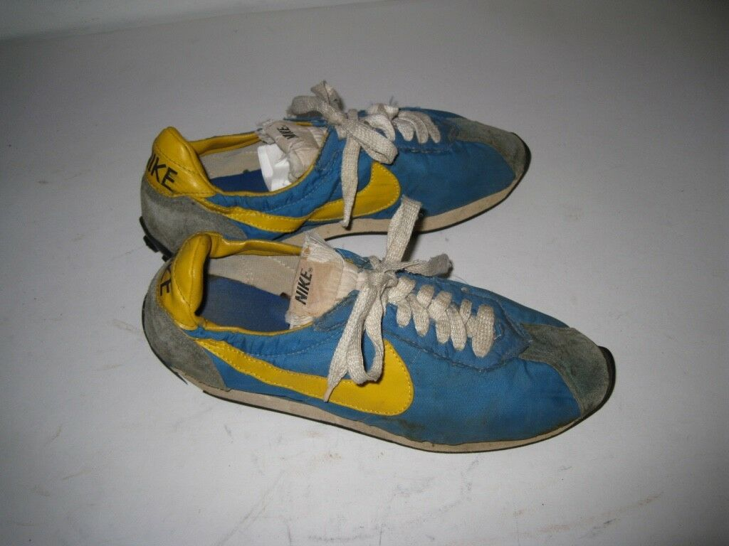 Vintage 1970s NIKE Waffle Trainer Sneakers Shoes Made in Japan Size 7.5
