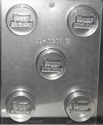 Happy Birthday,Party,Cookie Candy  Mold,Chocolate/Oreo,Clear Plastic, C/K