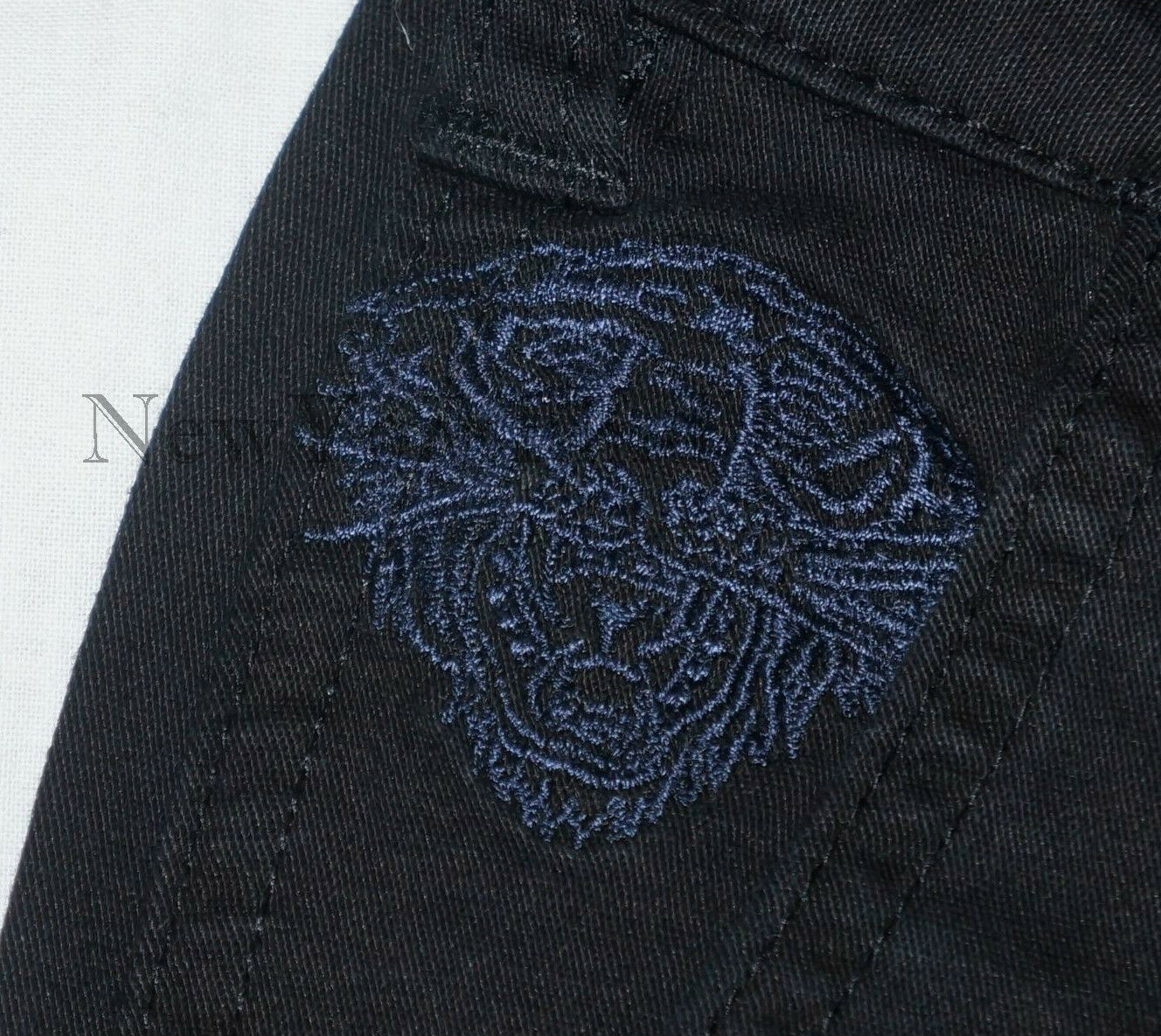 NWT ED HARDY Christian Audigier CARGO Jeans TIGER Embroided SKINNY Tattoo Pants