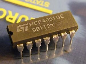 10x HCF4081BE Quad 2-Input AND-Gate, ST Microelectroni<wbr/>cs