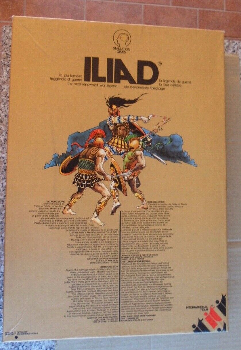 ILIAD –  International squadra 1979 Iliade Omero La famosa leggenda di guerra usato  lo stile classico