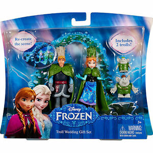 Disney Frozen Troll Wedding Gift Figures Set Brand New Sealed Ebay