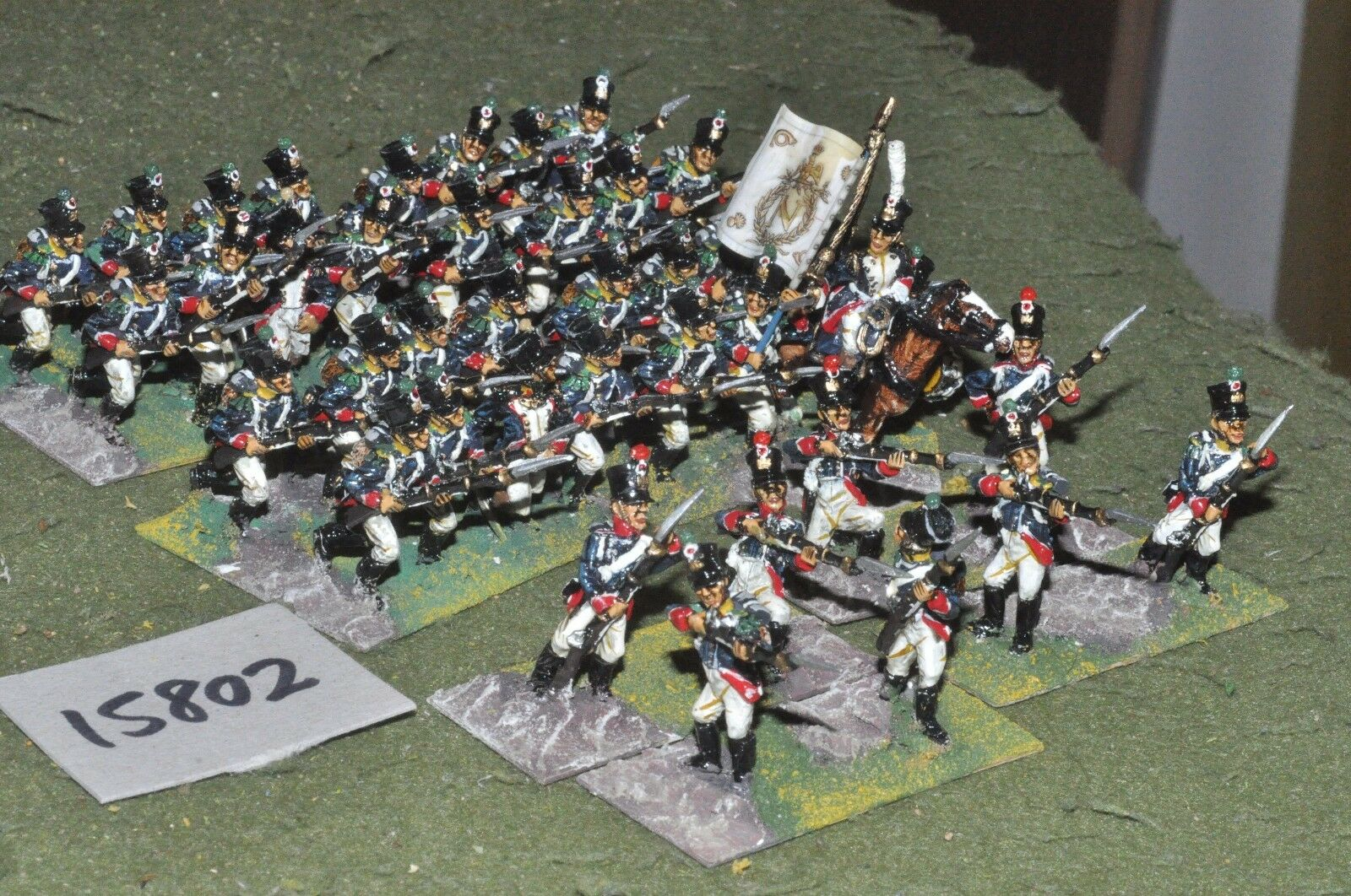 25mm napoleonic   french - young guard 40 figs by mac warren - inf (15802)