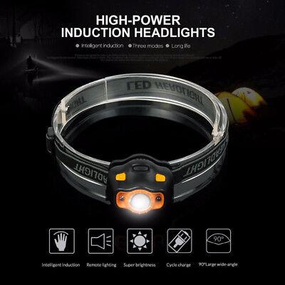 3000lm Led Ir Sensor Induktion Scheinwerfer Kopf Licht Taschenlampe Lampe