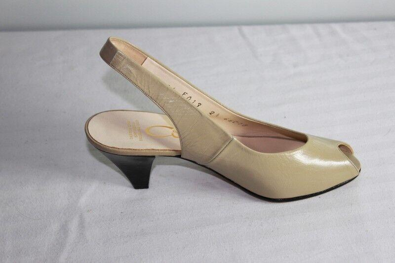 Corine Offene Schuhe Leder Hellbraun T 35 (2.5) Seht Guter Zustand Duftendes (In) Aroma