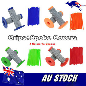 4Colors-Motorcycle-Motocross-Rubber-Hand-grips-Spoke-Wraps-Cover-Dirtbike-Enduro