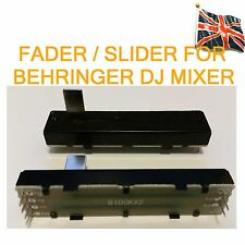 Fader Slider for BEHRINGER DJ mixer Replacement Stereo unit B100k x2 Dual 72mm