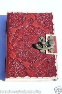 LARGE-Leather-Journal-Diary-Sketchbook-Notebook-Handmade-Vintage-Lock-Closer-PU0