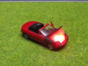 1-87-Mazda-MX5-Cabrio-Roadster-H0-Motorbrand-LED-12V-Feuer-Laser-Cut-Patina-7