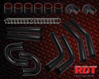 Mazda Miata Mx-5 Black Turbo Piping Kit 2.5 8 Pcs + Black Couplers + T-bolt