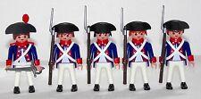 5 x FRANZOSE SOLDATEN + OFFIZIER INFANTRIE REG.1 Playmobil z Garde Napoleon 1516