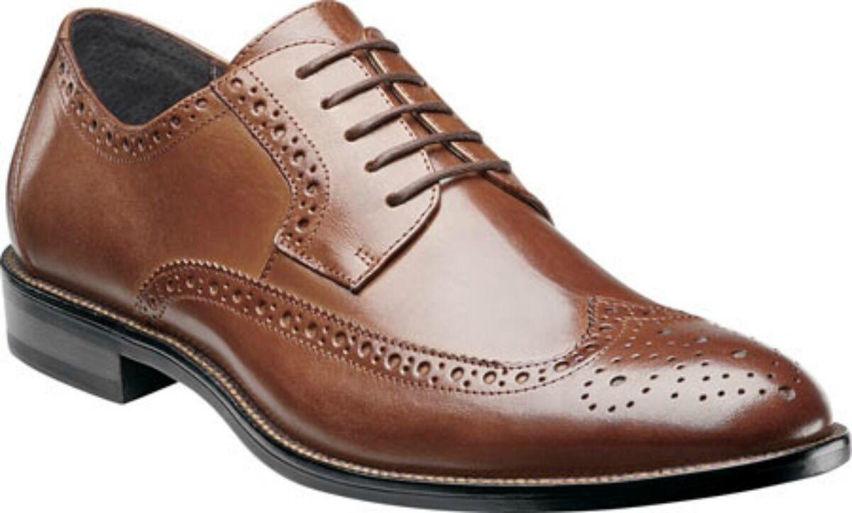 New Stacy Adams Uomo Garrison Wingtip Oxford Oxford Oxford Dress Shoe Cognac Pelle 24916-221 7a899d