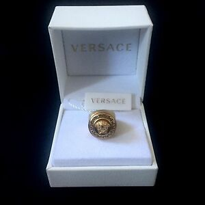 a1cbee454 NWT $525 Versace Men's Women's Gold Medusa Crystal Greek Key Logo ...
