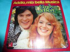 Cindy & Bert - Addio, mia bella Musica 1976 BASF NM LP