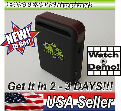 Real Time Self-Contained GPS Tracker Waterproof Vehicle Tracking Device Mini Spy