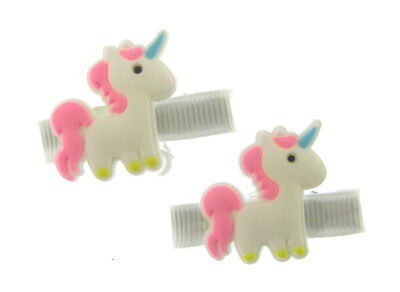 Skillful Knitting And Elegant Design 2 Sur Un Carte 4cm En Taille Filles Accessoires To Be Renowned Both At Home And Abroad For Exquisite Workmanship Amicable 2 X Licorne Motif Cheveux Becs