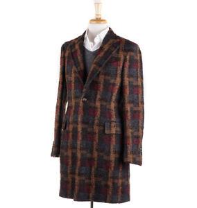 Details about NWT  2445 BOGLIOLI Multicolor Woven Check Wool Overcoat Slim  M (38 R) Coat d38c0a1ad4f1d