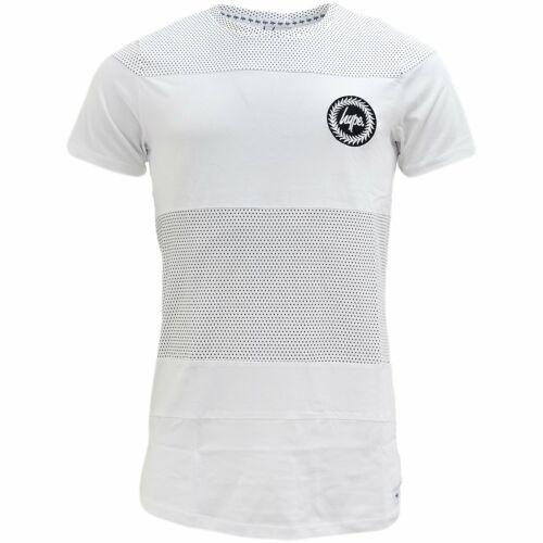 Neuf Avec Étiquettes Tailles XXS X//S Small Medium CAS Hype T//Shirt en Blanc