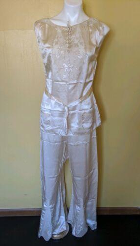 Vintage 1940's - 1950s Silk Satin Pajamas Loungewe