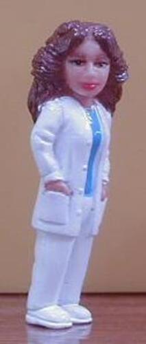 """NURSE NINA Homies Series 7 Figurine ~2/"""" tall New Loose Fig"""