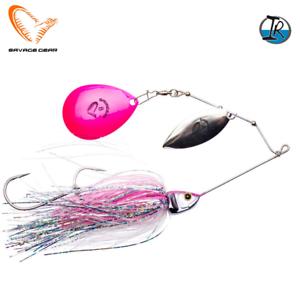 Savage Gear Spinnerbait Lure Da'Bush 16Cm//32G Pink Flash