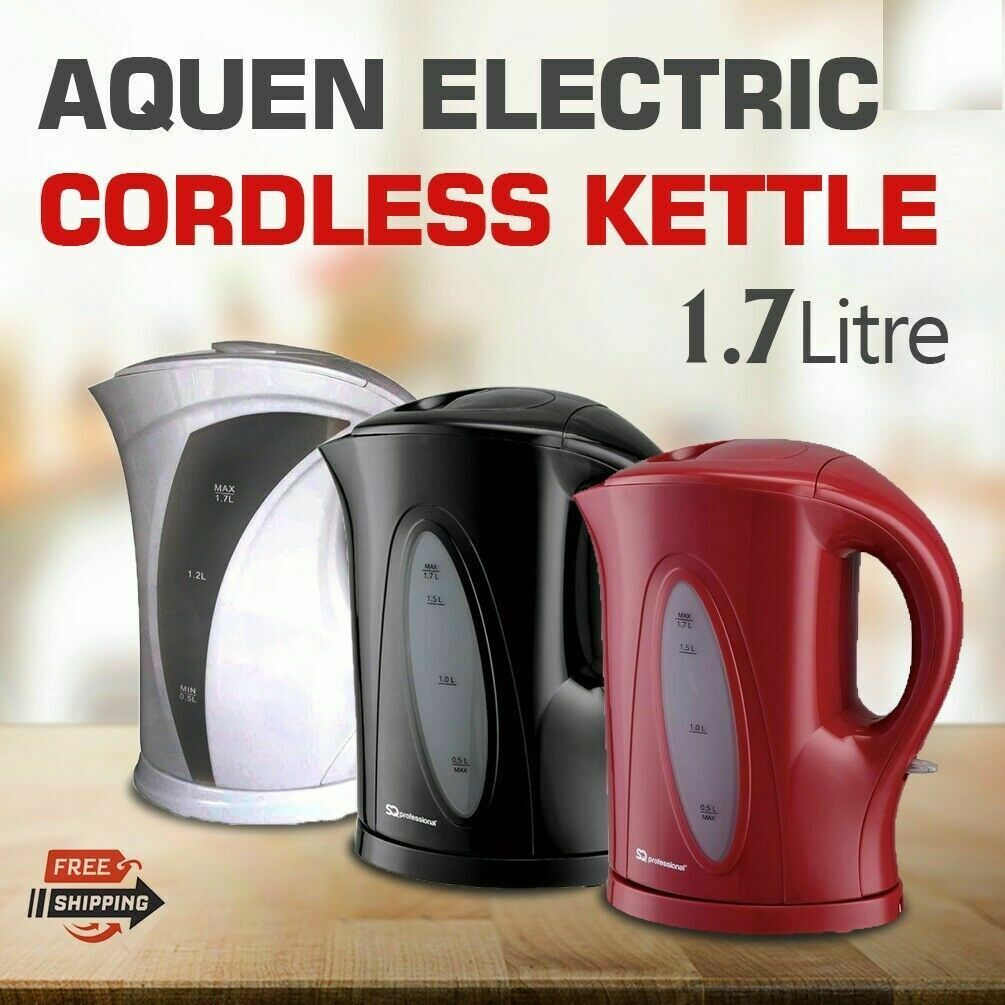 Morrisons Cook Metallic Red Kettle 1.7