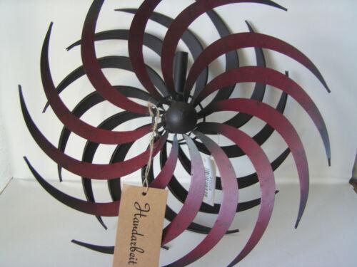 doppelläufig Dekoration Windmühle Windspiel Windrad Metall Ø 32,5 cm Garten