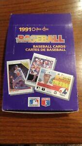 1991 O-Pee-Chee Premier Baseball Wax HOBBY Box with 35 Sealed Packs - missing 1