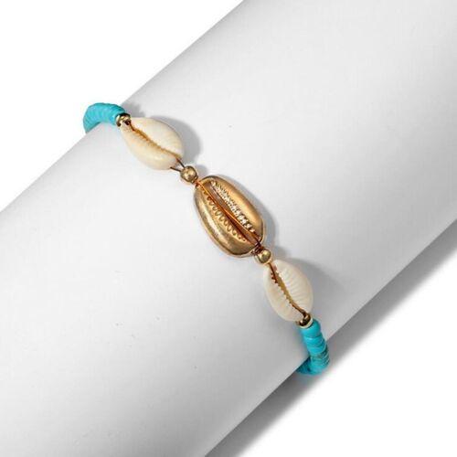 Bottines femme turquoise perles cheville Bracelets Shell Beach Sandal Bracelet Charme Bracelet