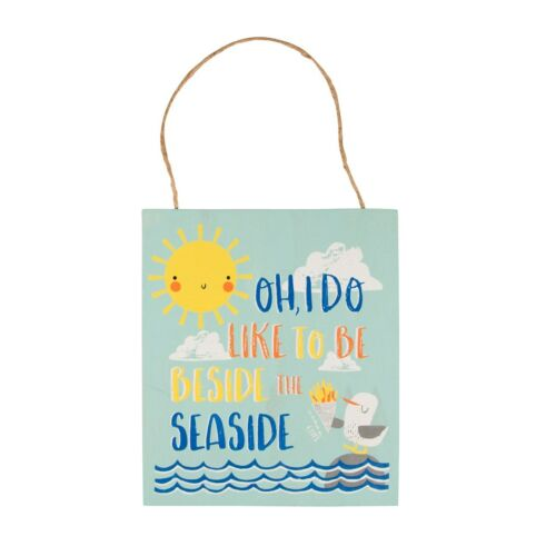 New Sass /& Belle Beside The Sea Naughty Seagull Nautical Beach Plaque Decoration