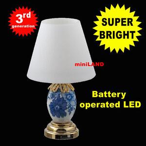 Table Lamp Super Bright Battery Led Lamp Dollhouse