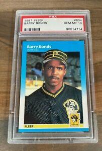 1987 FLEER BARRY BONDS #604 ROOKIE CARD PIRATES PSA 10 GEM MINT *RARE*