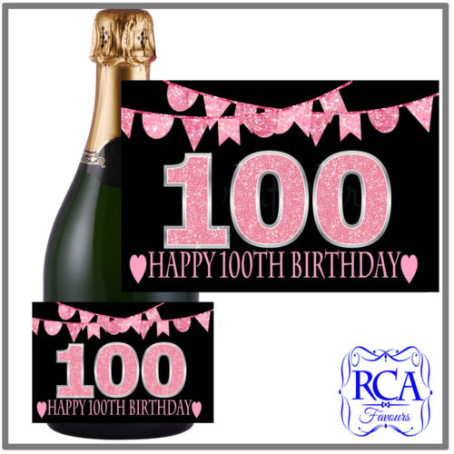 Bottle Labels to fit champagne style 17th 18th Number Birthday Sticker 21st
