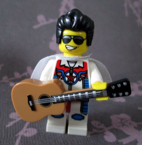 """NEW Lego Custom ELVIS PRESLEY Minifigure With Acoustic Guitar /& /""""Sequined/"""" Cape"""