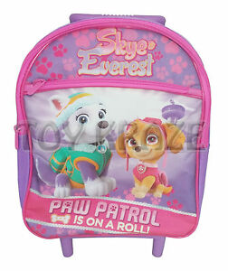 PAW PATROL TODDLER ROLLING BACKPACK! PURPLE PINK SKYE & EVEREST ...