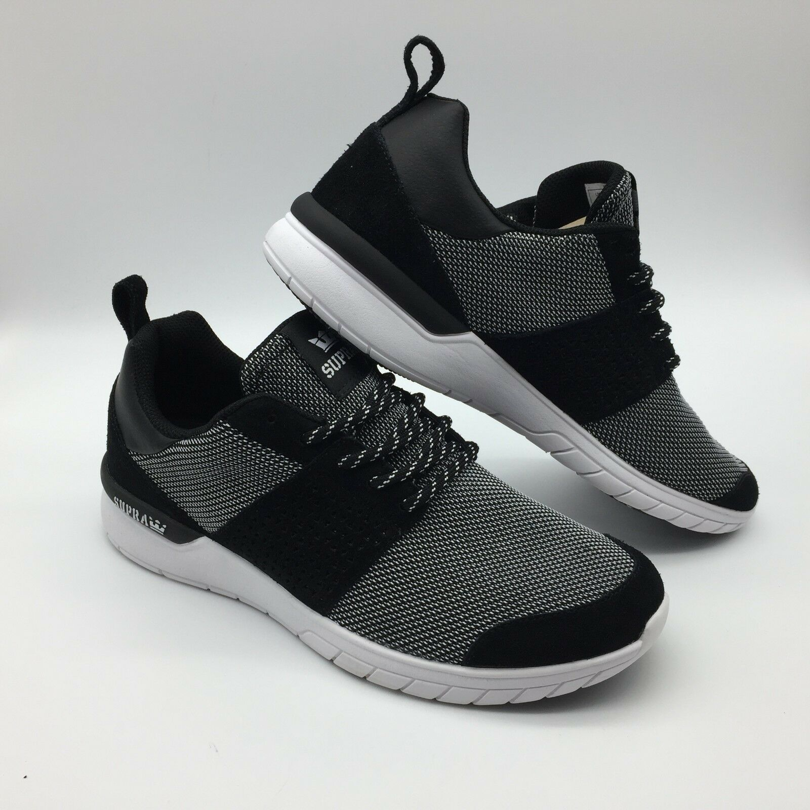 Supra Zapatos para hombre  tijera  --- Negro blancoo-blancoo