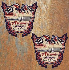 Atomic Garage Hot Rod Stickers Vintage Retro Classic Car Pinup Camper Beetle