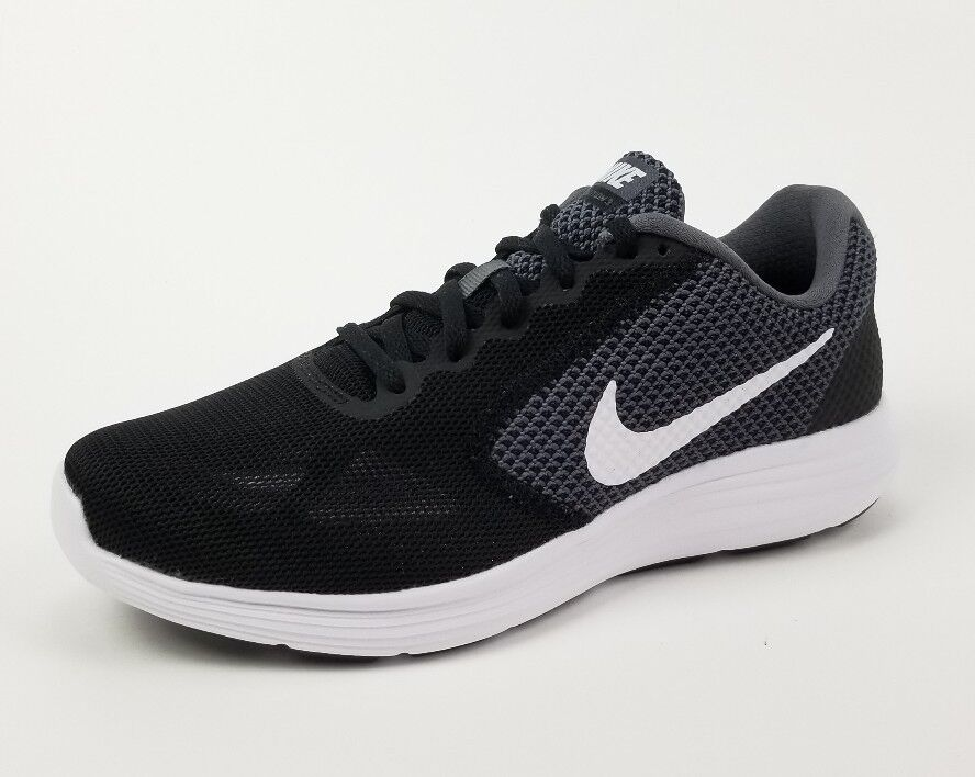 NIKE Womens Revolution 3 Running Shoe, Grey/Black, 7 Wide 2E Enhanced Cushioning