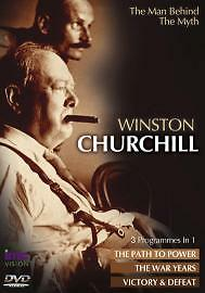 1 of 1 - Winston Churchill - The Man Behind The Myth  DVD Winston Churchill 3 Progs in 1