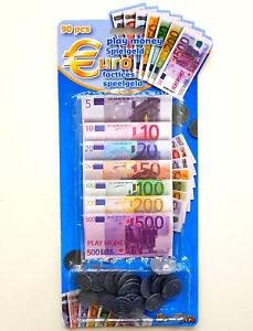 Spielgeld Euro Münzen Und Scheine 90 Teile Rechengeld Kaufladen